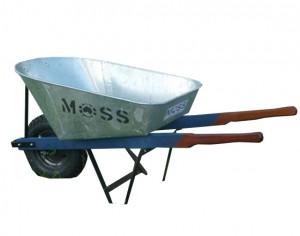 Moss galvonized wheel barrow
